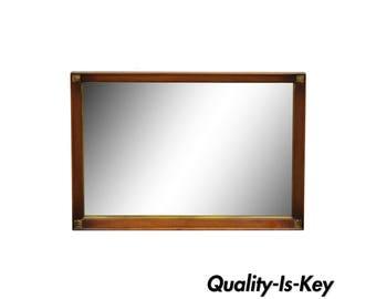 34 x 50 Vintage Traditional Mahogany Wall Sofa Vanity Dresser Rectangular Mirror