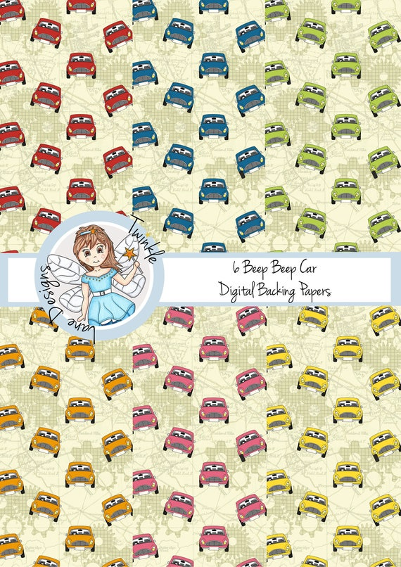 Cars, Digital Paper, Cogs, Roads, Transport, Car Clipart, Vehicles, Digital Paper Pack, Six A4 Pages, Papercrafting, Map, Crafts, Background