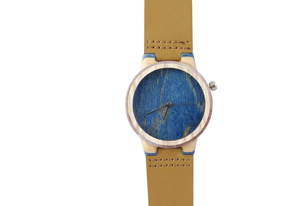 7PLIS watch #099 Recycled SKATEBOARD #madeinfrance blue purple fuchsia brown