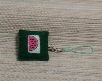 Wearable jewelry watermelon green felt square
