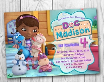 Doc McStuffins Invitation - Doc McStuffins Birthday Invitation - Doc McStuffins Party - Doc McStuffins Printables