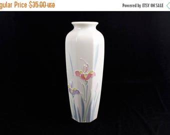 Summer Vintage-Otagiri Hand Painted Vase-Floral Lite made in Japan
