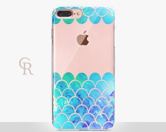 Mermaid Phone Case - Clear Case - For iPhone 8 - iPhone X - iPhone 7 Plus - iPhone 6 - iPhone 6S - iPhone SE Transparent - Samsung S8 Plus