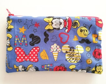 Mickey Mouse and friends themed clutch bag