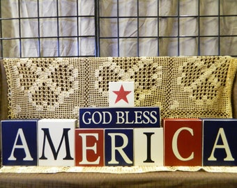 God Bless America Blocks