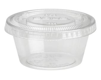 2oz Plastic Containers with Lids 100pcs - Qty 50 Containers