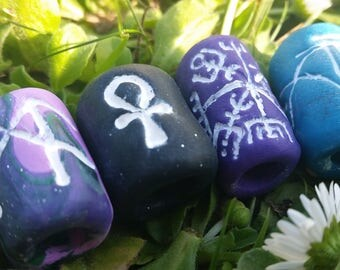 Dread beads, ankh, runes, jewellery