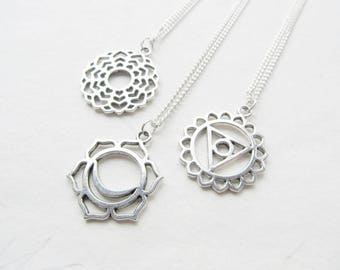 Chakra necklace, yoga necklace, chakra jewelry