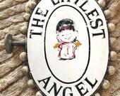 Vintage Sign - Vintage Store Sign - Vintage Kid's Clothing Sign - The Littlest Angel - The littlest Angel Sign