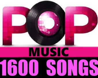 Greatest Hits of POP Music Collection Over 1600 MP3 Songs from 120 Artists OLD & NEW