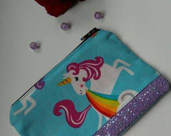 Rainbow unicorn coin purse