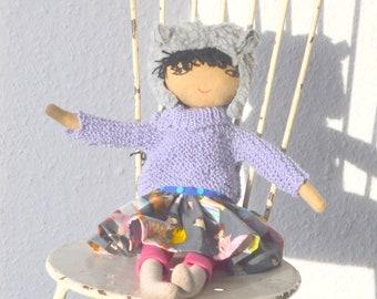 doll, rag doll, puppe, stoffpuppe, fabric doll
