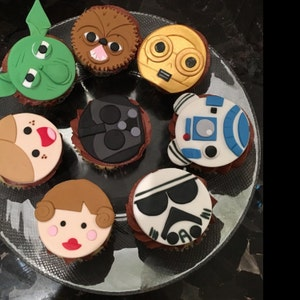 how to make fondant star wars cupcake toppers