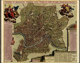 Poster, Many Sizes Available; Map Of Rome 1709