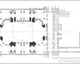 Poster, Many Sizes Available; Hagia Sophia Groundplan