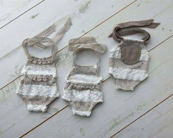 Tiny baby romper - photo props