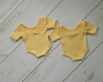 Newborn yellow romper - photo props