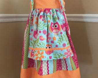 Girls size 4 dress with long bloomers
