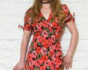 Fair Trade Festival Wrap Dress Size L (12-14)