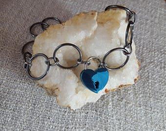 Locking BDSM Collar, Bondage Collar, O ring Collar, Heart Lock, BDSM Toys, Bondage Toys, Sex Toys, Adult Toys, Mature Toys