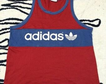Birthday Sale RARE Vintage 90s Adidas Tank Trefoil Made in USA