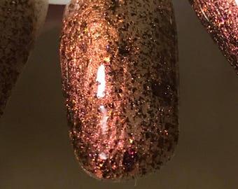 BURNING DESIRE Copper Ultra Chameleon Flakie Nail Polish