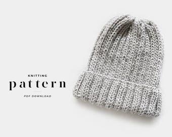 Knitting Pattern Beanie / Knit Hat Beanie Pattern / Hat Knitting Pattern / Beanie Hat Knitting Pattern / Womens Beanie Pattern