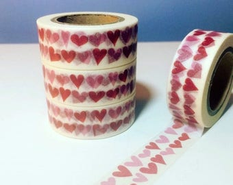 30% OFF ENTIRE STORE On Sale, Rows of Hearts, Washi Tape