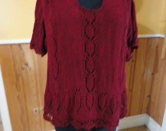 clothing-womens-pullover sweater -short sleeves