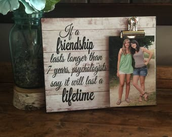 Friendship Quote, If A Friendship Lasts, Gift For Friends,