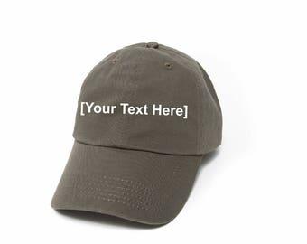 Custom Dad Hat, Custom Baseball Caps, Dad Hat Custom, Embroidered Baseball Cap, Adjustable Strap Back Baseball Cap, Low Profile, Olive
