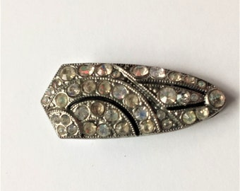 Vintage Dress Clip, Art Deco Dress Clip, Rhinestone Dress Clip, Vintage Wedding, Vintage Gift
