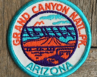 Grand Canyon National Park Arizona Vintage Souvenir Travel Patch