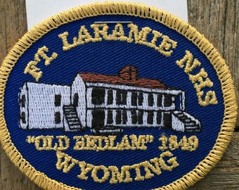 Fort Laramie National Historic Site Wyoming Vintage Souvenir Travel Patch