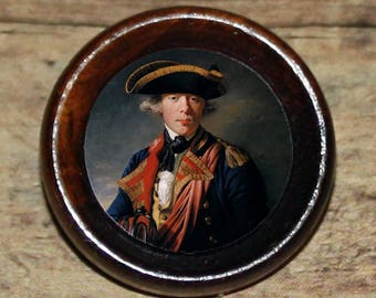 Cornet Sir George Cooke JOSEPH WRIGHT Pendant or Brooch or Ring or Earrings or Tie Tack or Cuff Links