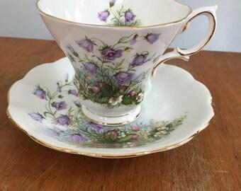 Beautiful Vintage Royal Albert Sunnyside Series Juliet Bone China Tea Cup & Saucer