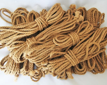 Jute Bondage Rope Bag Stuffer Kit Shibari Rope