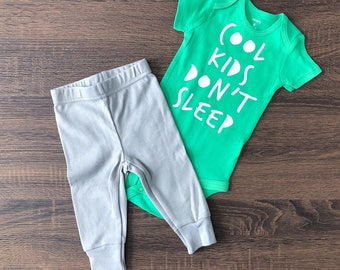 Ready to Ship | Cool Kids Don't Sleep | Funny Baby Outfit | Funny Kids Clothing | Trendy Boy Clothes | Hipster Baby Clothes | Cute Boy Shirt