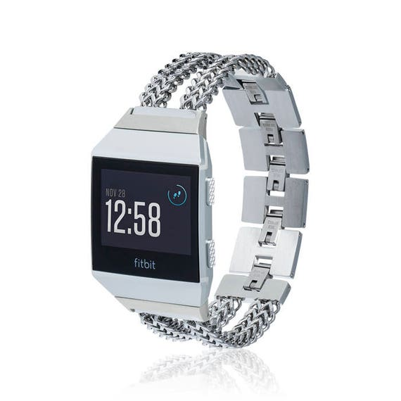 Fitbit Ionic Band -  ZickZack - more colors available - stainless steel