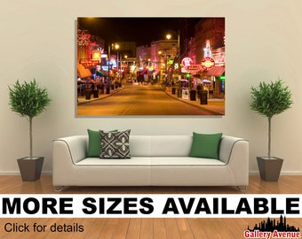 Wall Art Giclee Canvas Picture Print Gallery Wrap Ready to Hang Blues Club in Memphis 60x40 48x32 36x24 24x16 18x12 3.2