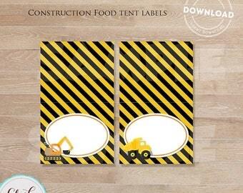 50% OFF SALE Construction food labels, Construction table tents, Construction  Decoration, Dump Truck Food label, INSTANT Download
