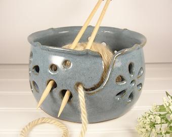 Yarn bowl, Knitting bowl, Oval Yarn bowl, Large Yarn bowl, Yarn bowl Ceramic, Yarn bowl Crohet, Yarn Holder, Pottery Gift ideas