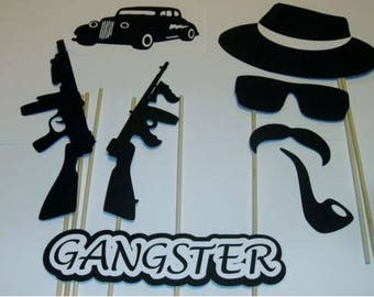 DIY- 15 Photo Booth Props Gangster Good Fellas Mob Guns Cigarette (2094D)