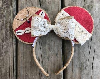 Moana disney ears headband - moana birthday - moana ears - moana disney - moana disney ears - moana dress up - moana birthday gift