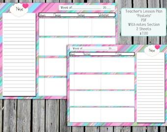 Teachers Lesson Plan Pastels