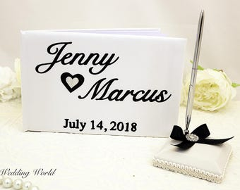 Wedding Guest book, Personalized Wedding Guest Book, Customized Wedding Book, Custom Book,  Wedding Book set