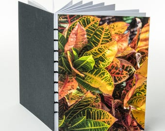 COLORFUL CROTON | small handmade coptic bound blank book diary journal notebook original cover photo | aBoBoBook