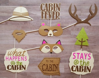 Woodland Cabin Photo Booth Props