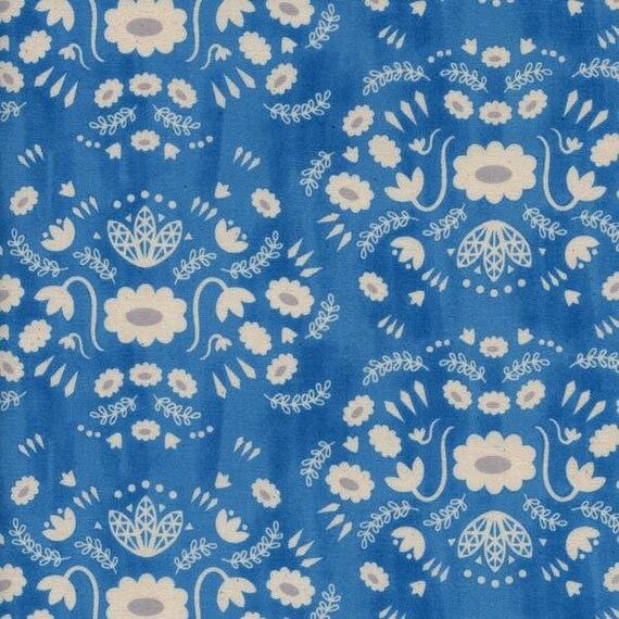 Changing Pad Cover - Flower Shop Folk in Blue - MADE-to-ORDER - floral blue changing pad, blue changing pad, flower change pad, bohemian