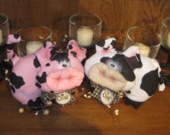 Barnyard Pig Bowl Filler - Farm Animal Decoration - Pig Bowl Filler -Prim Pig Tuck - Oink - Kitchen Decoration - FAAP~HAFAIR~TEAMHAHA